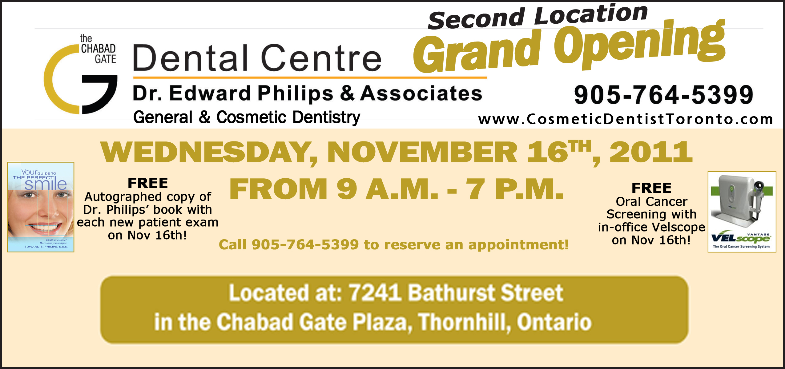 Cosmetic Dentist Toronto Dr Edward Phiips Chabad Gate Dental Center Thornhill Ontario