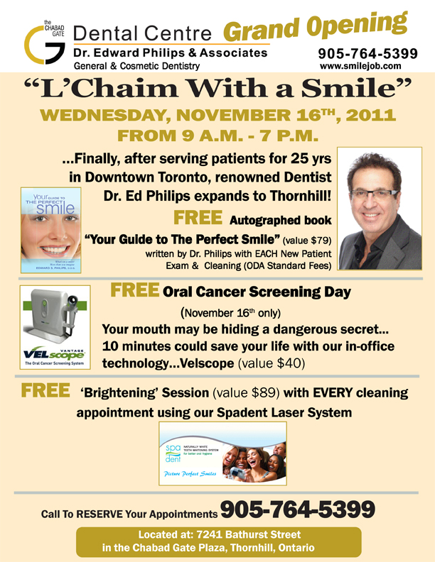 Cosmetic Dentistry in Toronto just got better with Dr Ed Philips expanding to Thornhill!
